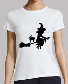 sorcière balai chat