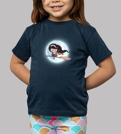 sorcière volant par la lune