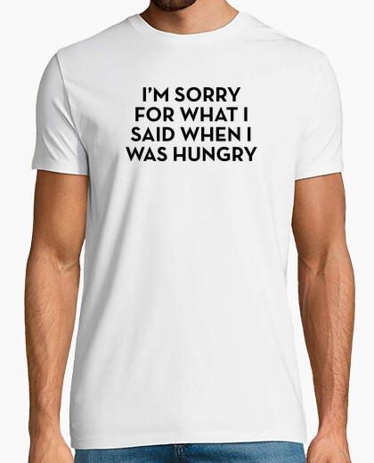 Sorry hungry black t-shirt