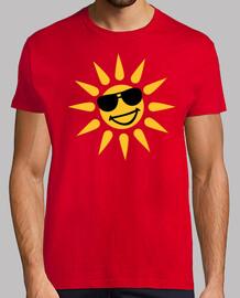 sourire lunettes de soleil visage soleil