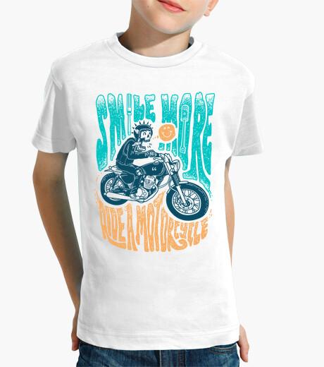 Vêtements enfant sourire plus conduire une moto