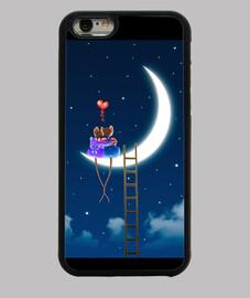 souris couvrent iphone 6, noir