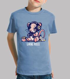 souris de jeu - chemise d'enfants