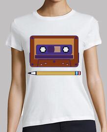 souvenirs rétro cassette et crayon
