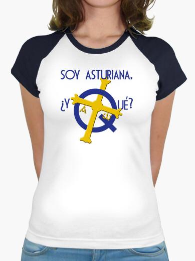 Soy asturiana, ¿y qué? - Camiseta de chica tipo béisbol