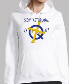 Soy asturiana, ¿y qué? - Jersey con capucha para chica
