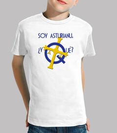 Soy asturiano, ¿y qué? - Camiseta para niño de manga corta