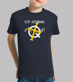 Soy asturiano, ¿y qué? fondo oscuro - Camiseta para niño de manga corta