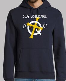 Soy asturiano, ¿y qué? fondo oscuro - Jersey con capucha