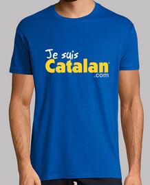 soy catalán - azul y oro - borde blanco