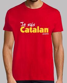 soy catalán - rojo y oro - borde blanco