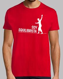 Soy Equilibrista camiseta hombre roja