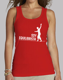 Soy Equilibrista camiseta mujer roja