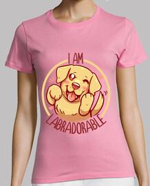 soy labradorable - golden labrador - camisa de mujer
