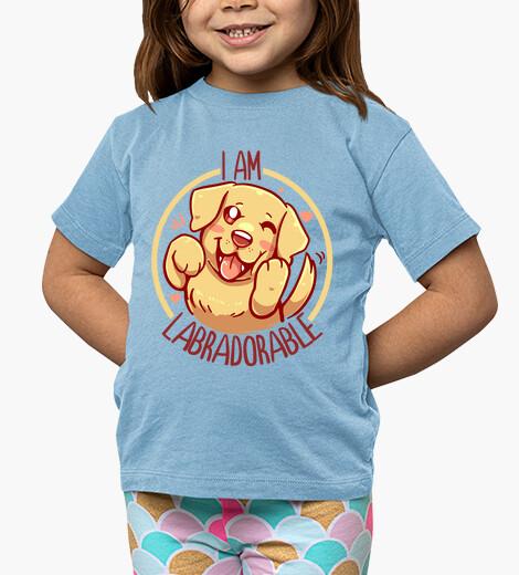 Ropa infantil soy labradorable - golden labrador - camisa de niños