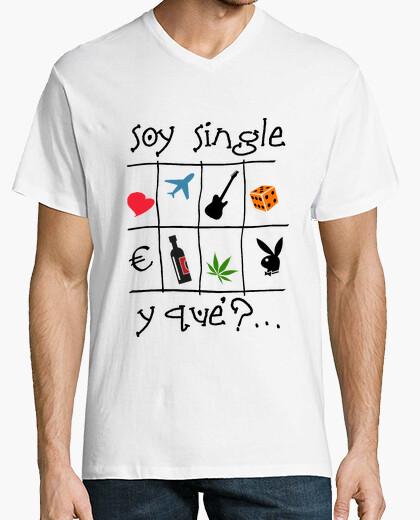 Soy single - Camiseta cuello de pico clásico