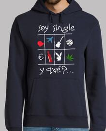 Soy single fondo oscuro - Jersey con capucha