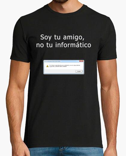 Camiseta Soy tu amigo no tu informático (Chico Negro)