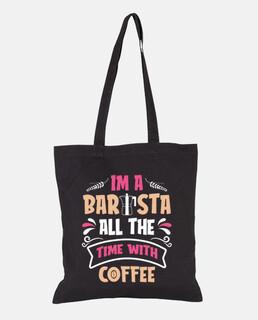 Soy un barista todo el tiempo con café