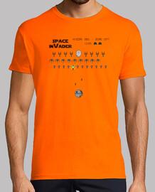 space invader - t-shirt de l'homme