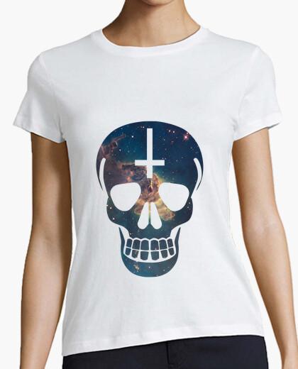T-shirt spazio skull - ragazza