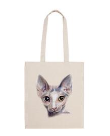 sphinx cat canvas shoulder bag