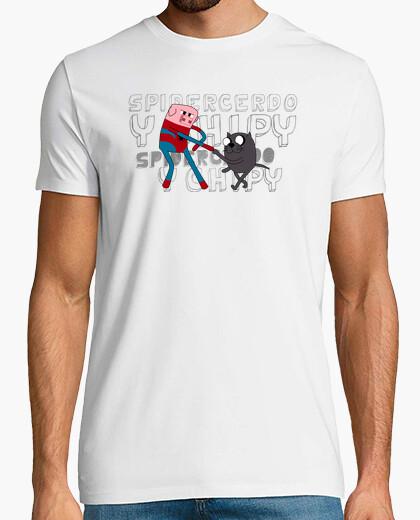 Tee-shirt spidercerdo et chipy