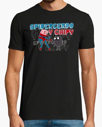 Camiseta Spidercerdo y Chipy