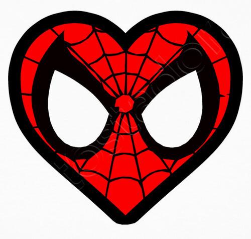 Camiseta Corazón Spiderman Mujer fce14d5f05ba4