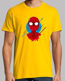 spiderman minimal, l'homme, manches courtes, jaune moutarde, qualité extra