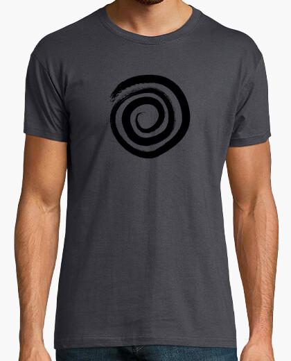 Tee-shirt spirale circulaire - couleur noire