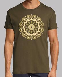 spirale de mandala doré