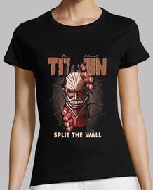 Split the wall - shirt woman