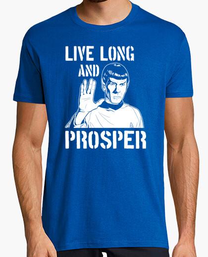 Camiseta Spock - Live Long and Prosper (Star Trek)