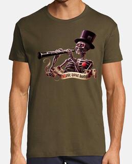 sposta l'uomo scheletro t-shirt da uomo