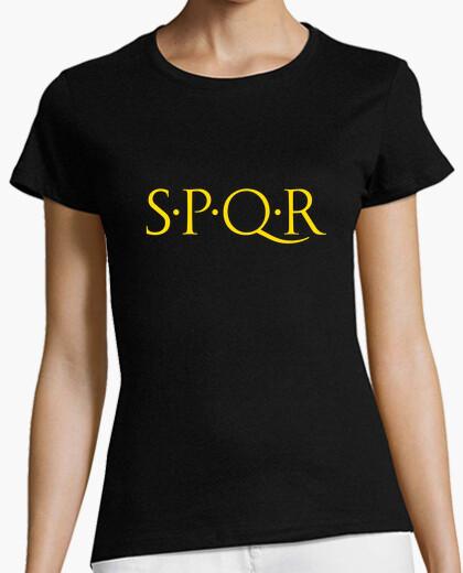 Camiseta SPQR dorado chica