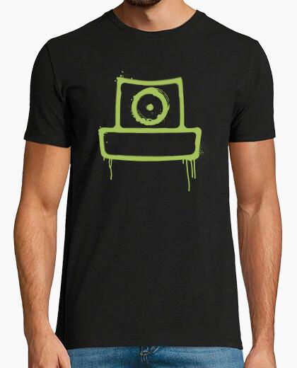 Camiseta spray can verde