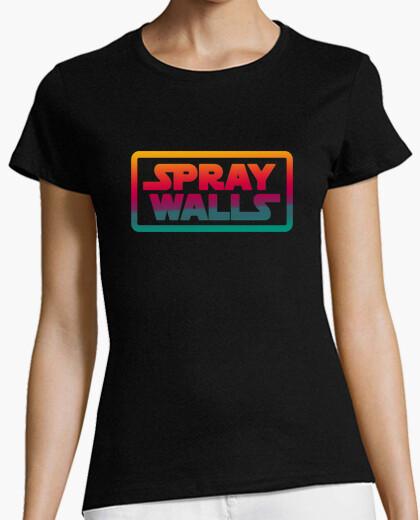 Camiseta Spray Walls Logo Mujer