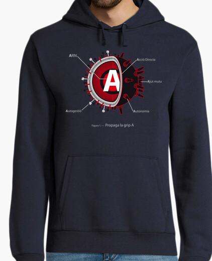 Spreads grip a - hoodie, navy.