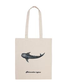 squalo balena per sub borsa a tracolla