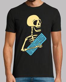 squelette avec clavier