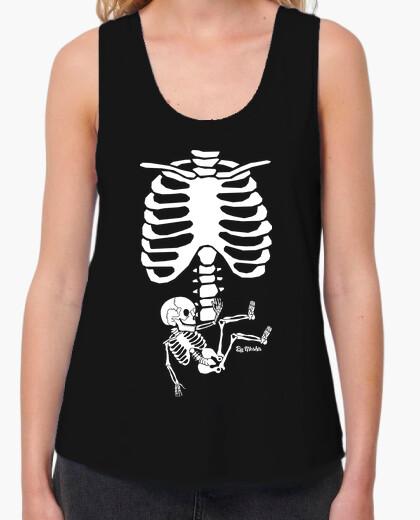 Tee-shirt squelette enceinte