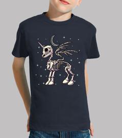 squelette licorne pégase lune et étoile