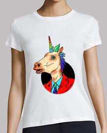 Sr. Unicornio - Mujer, manga corta, blanca, calidad premium