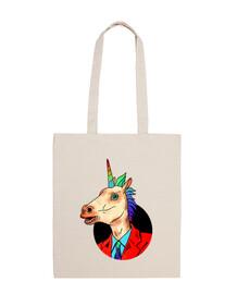 sr. unicorno - borsa in tela cotone 100%
