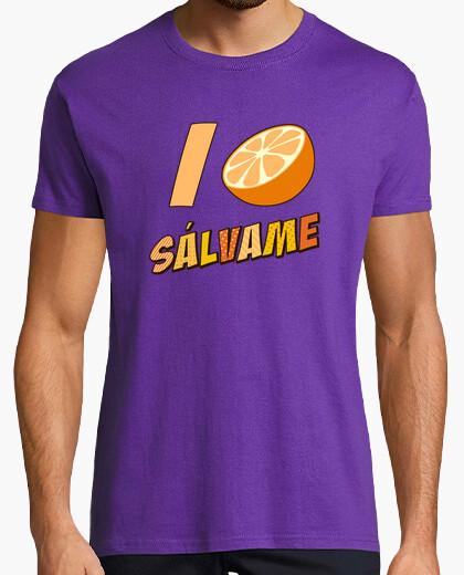 Camiseta Sssálvame naranja