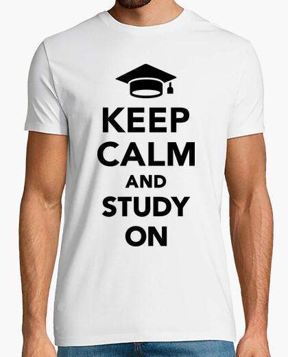 T-shirt stai calmo e continua a studiare