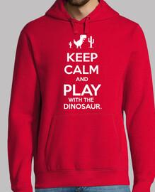 stai calmo e gioca con il dinosauro
