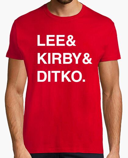 Camiseta Stan Lee & Jack Kirby & Steve Ditko.
