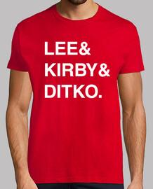 Stan Lee & Jack Kirby & Steve Ditko.